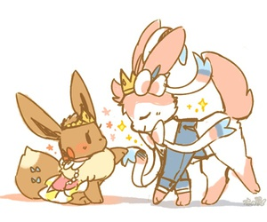 pokemon, eevee, and princess image