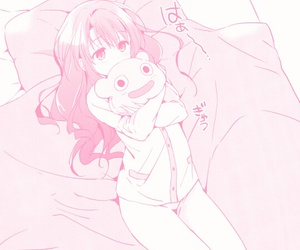 manga, pink, and girl image