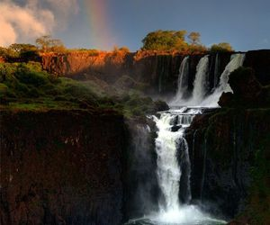 argentina, travel, and waterfall image