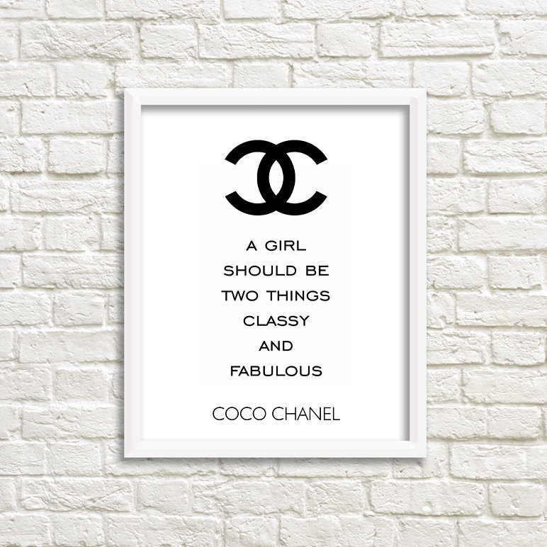 Printable Quotes Printable Poster Art Coco Chanel Quote High