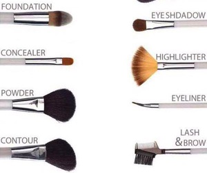 Brushes, makeup, and guide image