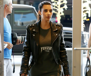 kim kardashian and leather jacket image