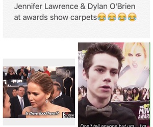 dylan o'brien, funny, and Jennifer Lawrence image