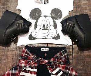 fashion, mickey, and outfit image