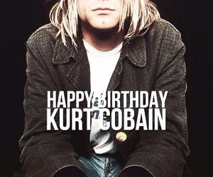 kurt cobain, nirvana, and happy birthday image