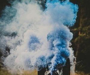smoke, blue, and grunge image