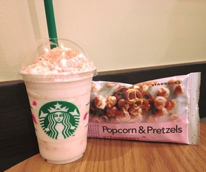 cherry blossom, coffee, and food image