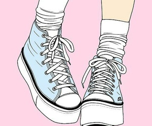 shoes, pink, and blue image