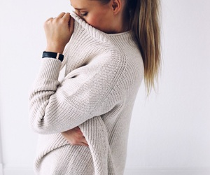 beige, ponytail, and cozy image