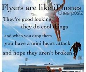 flyer, cheer, and cheerleading image