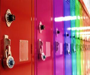 colors, locker, and school image