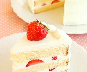 food, milky, and shortcake image