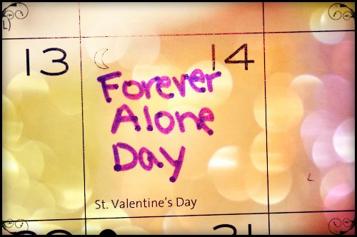 cool, forever alone, and love image