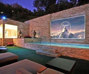 house, pool, and cinema image