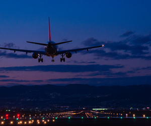 bokeh, Moutains, and plane image