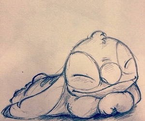 stitch, disney, and draw image