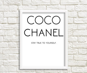 etsy, wall art quotes, and coco chanel print image