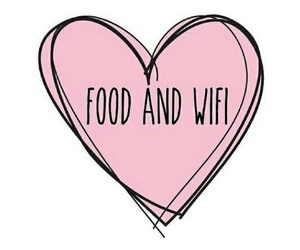food, wifi, and heart image