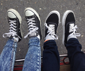 black, converse, and shoe image