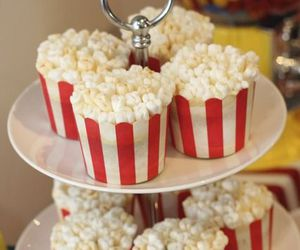 cupcake, popcorn, and delicious image