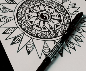 bored, draw, and mandala image