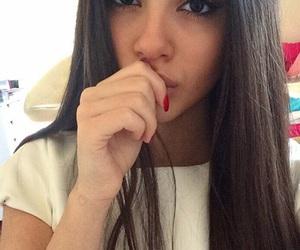 beautiful, brune, and eyes image
