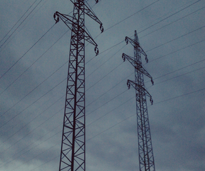 blue, clouds, and electric image