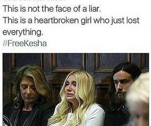 freekesha, kesha, and sad image