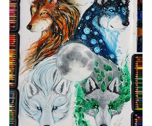 art draw wolves image