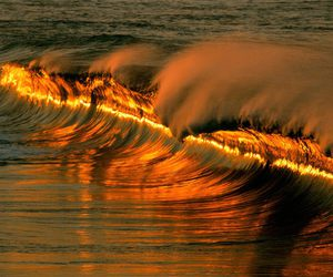 ocean, wave, and sunlight image