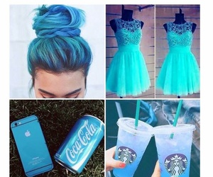 blue, dress, and hair image