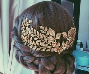 braid, brown, and chic image