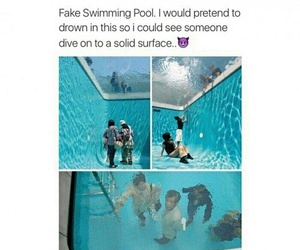 cool, funny, and pool image