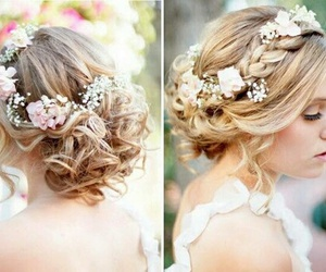 blond, curl, and curly image