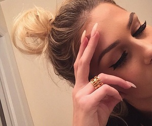 makeup, hair, and nails image