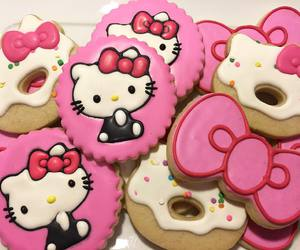 hello kitty, Cookies, and kawaii image