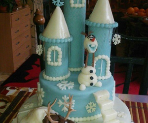 cake, castle, and frozen image