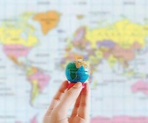 globe, maps, and travel image
