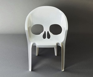 skull, chair, and design image