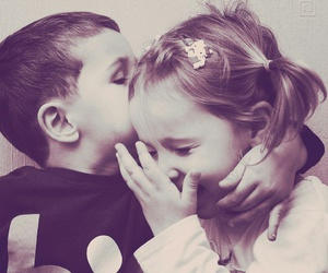 love, kids, and kiss image