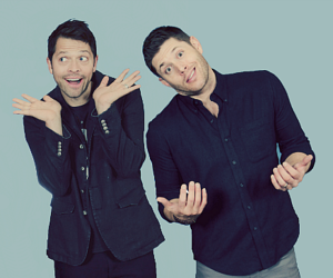 supernatural, Jensen Ackles, and misha collins image