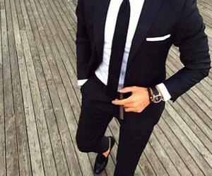 suit, men, and black image
