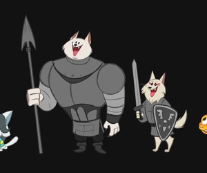 monster kid, undertale, and greater dog image