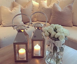 candles, cozy, and decor image