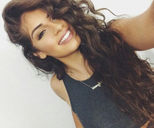 girl, smile, and hair image