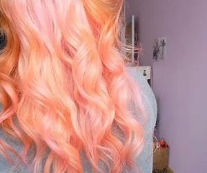 hair, pink, and orange image
