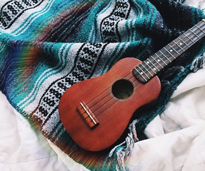 blanket, tumblr, and ukulele image