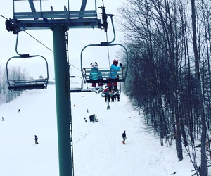 artsy, chair lift, and cold image