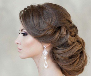 girl, wedding, and wedding hair image