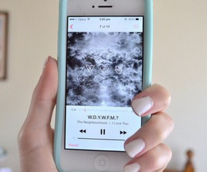 iphone, apple, and music image